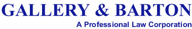 Gallery & Barton - a Professional Law Corporation
